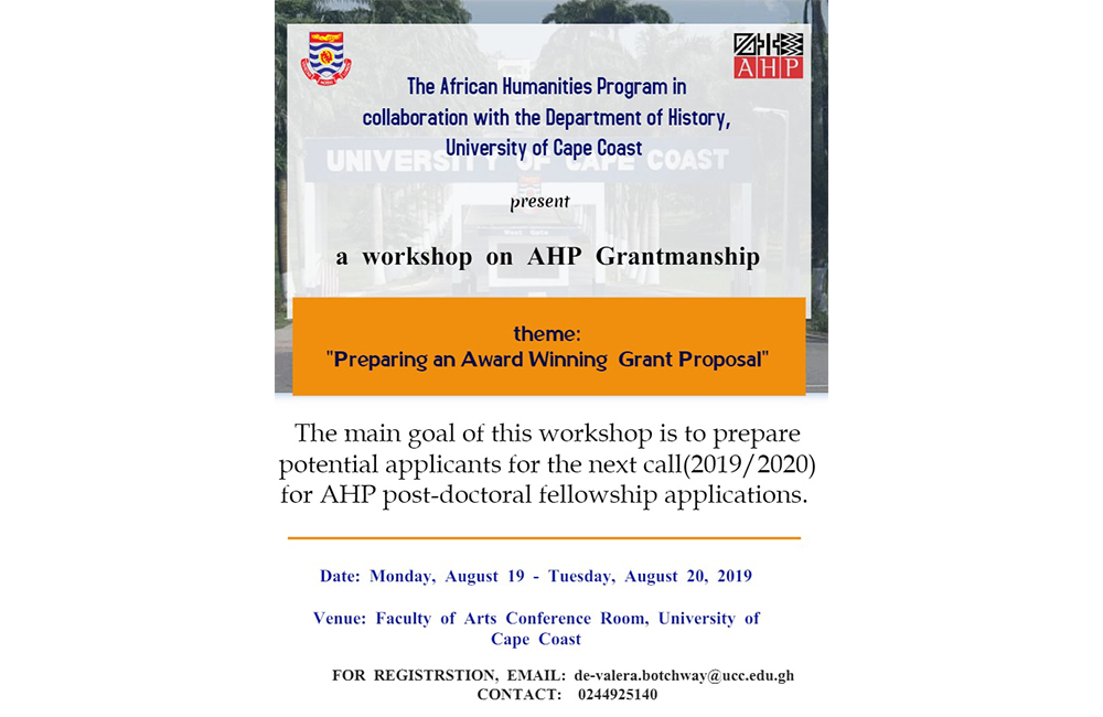 Grant Writing Workshop for Post-Doctoral Fellowship