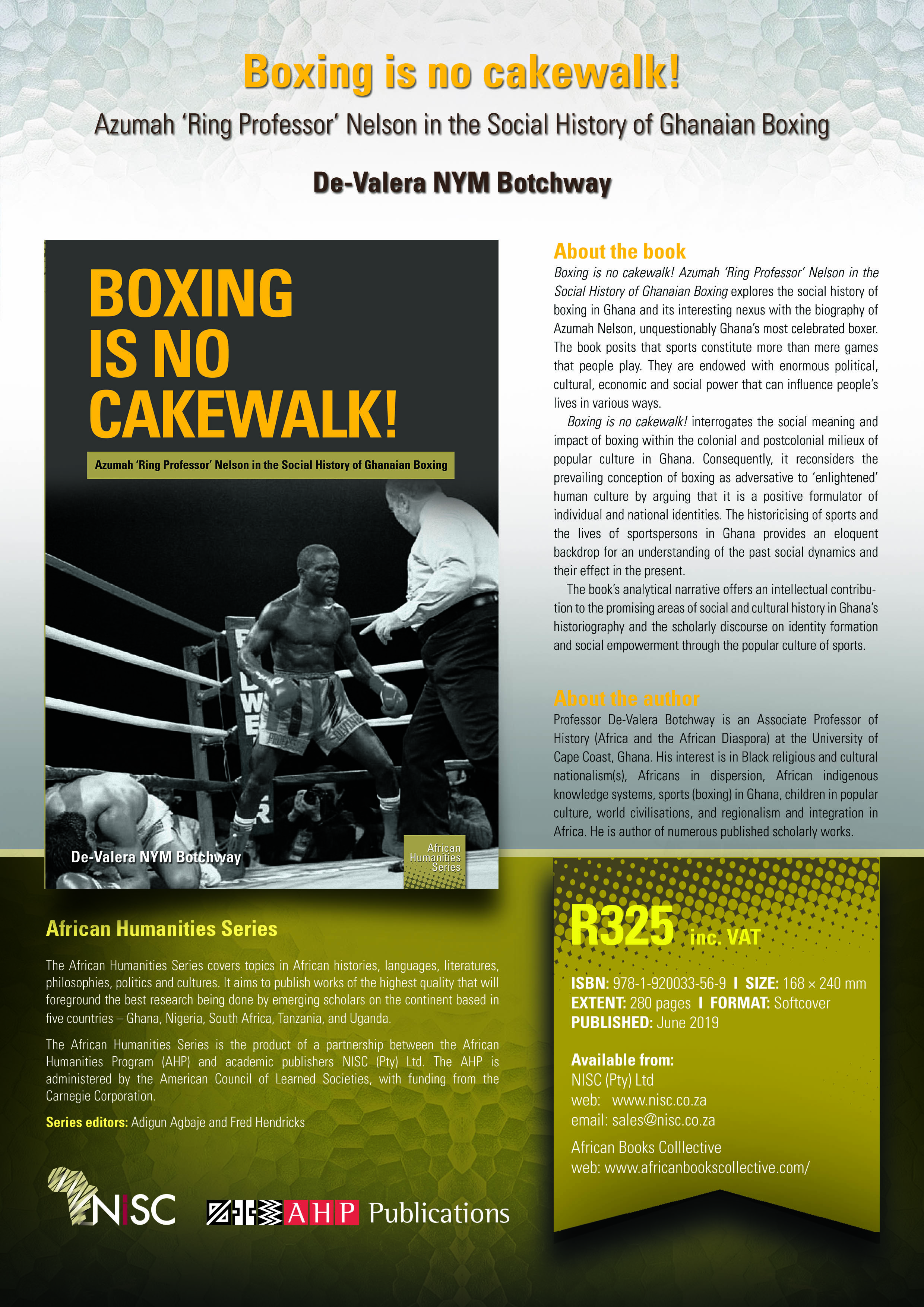 Boxing is No Cake Walk-Book Launch