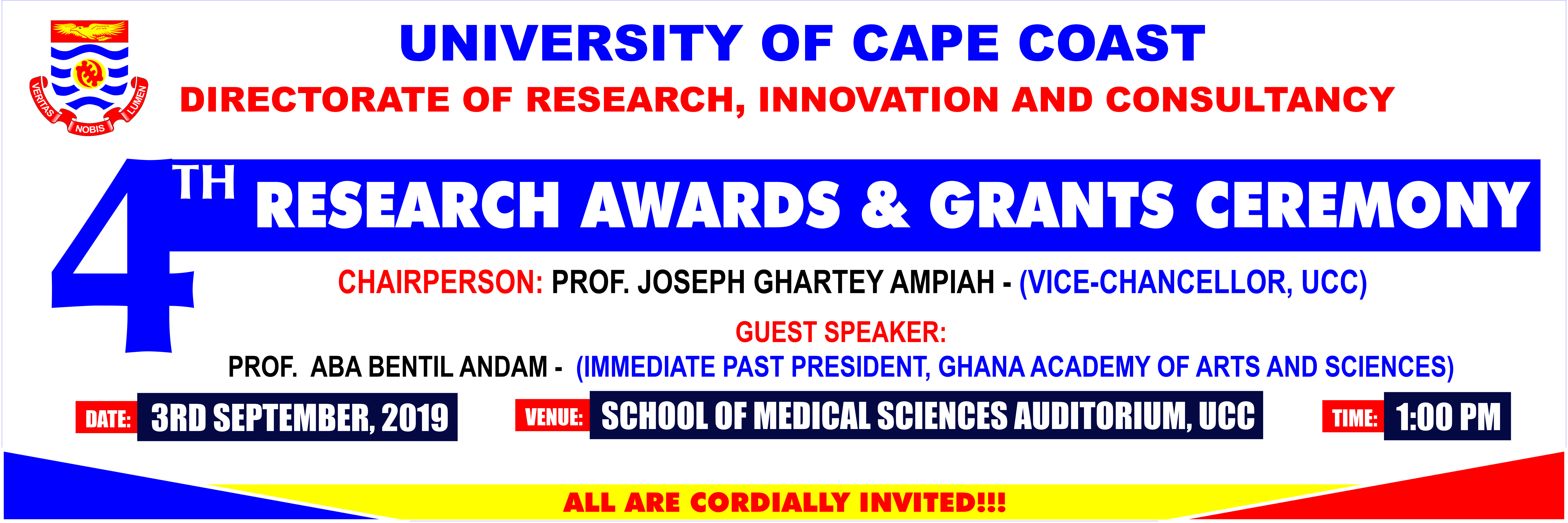 4th Research Awards and Grants Ceremony