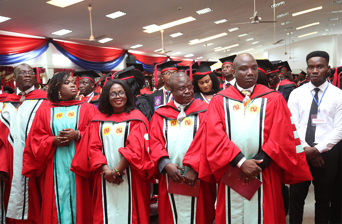 A section of PhD graduates at the 5th Session of the 52nd Congregation