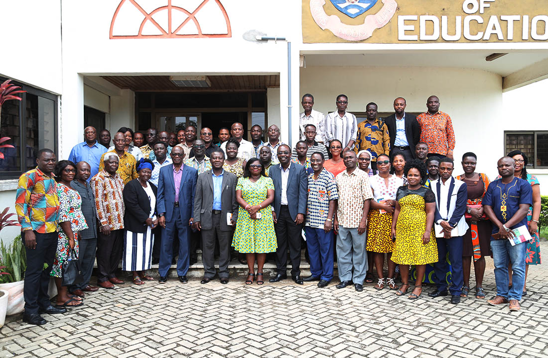 Prof. Ernest Kofi Davis with the lecturers