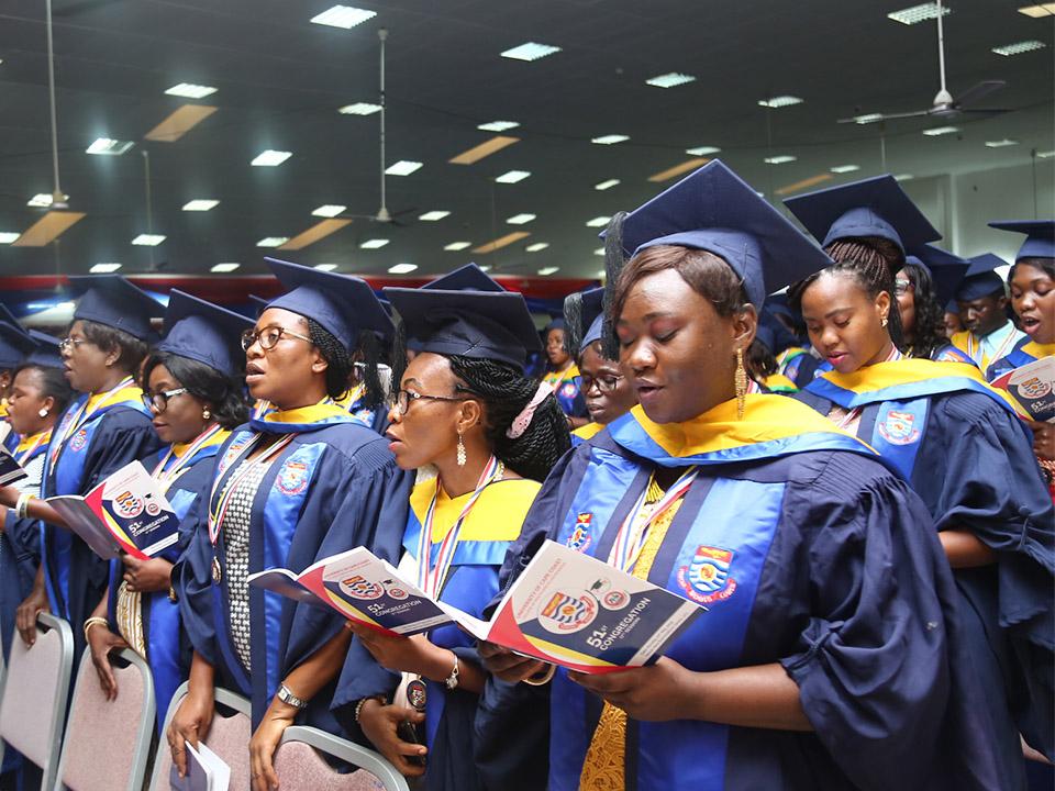 Graduating Students singing the UCC anthem