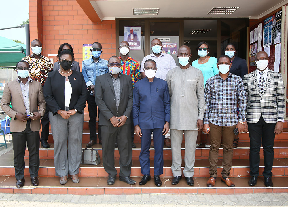 The Vice-Chancellor's team with Management of ECG