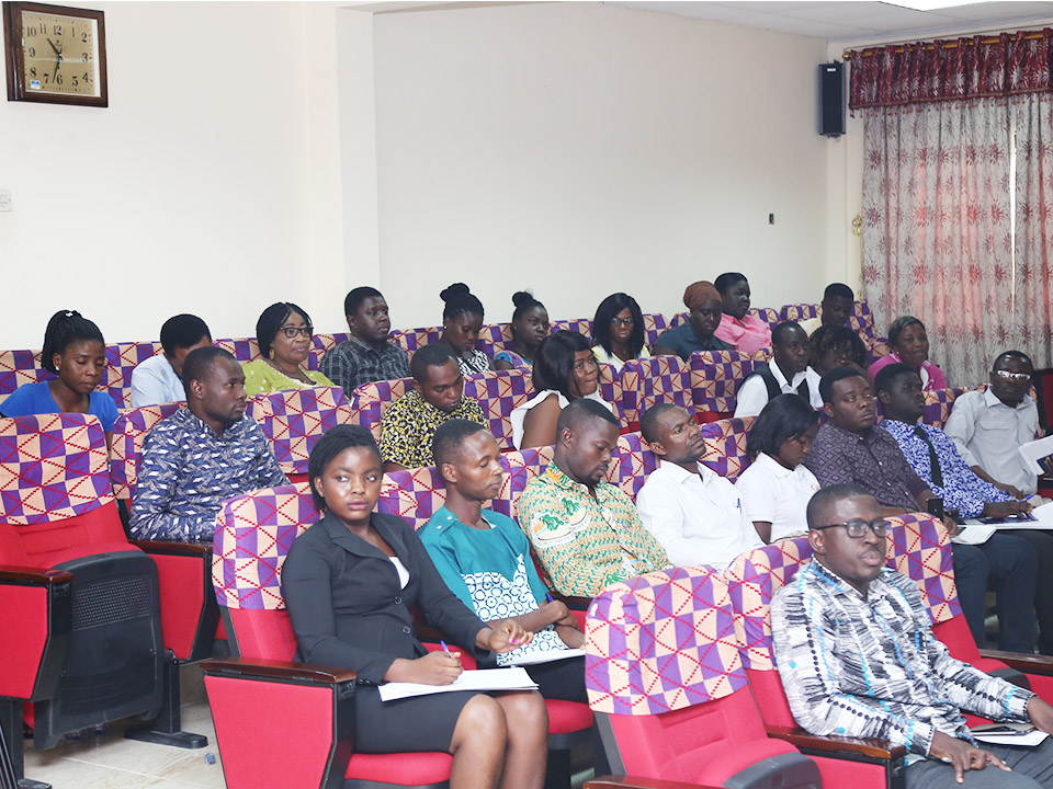 Participants listening to presentations by the Resource Persons