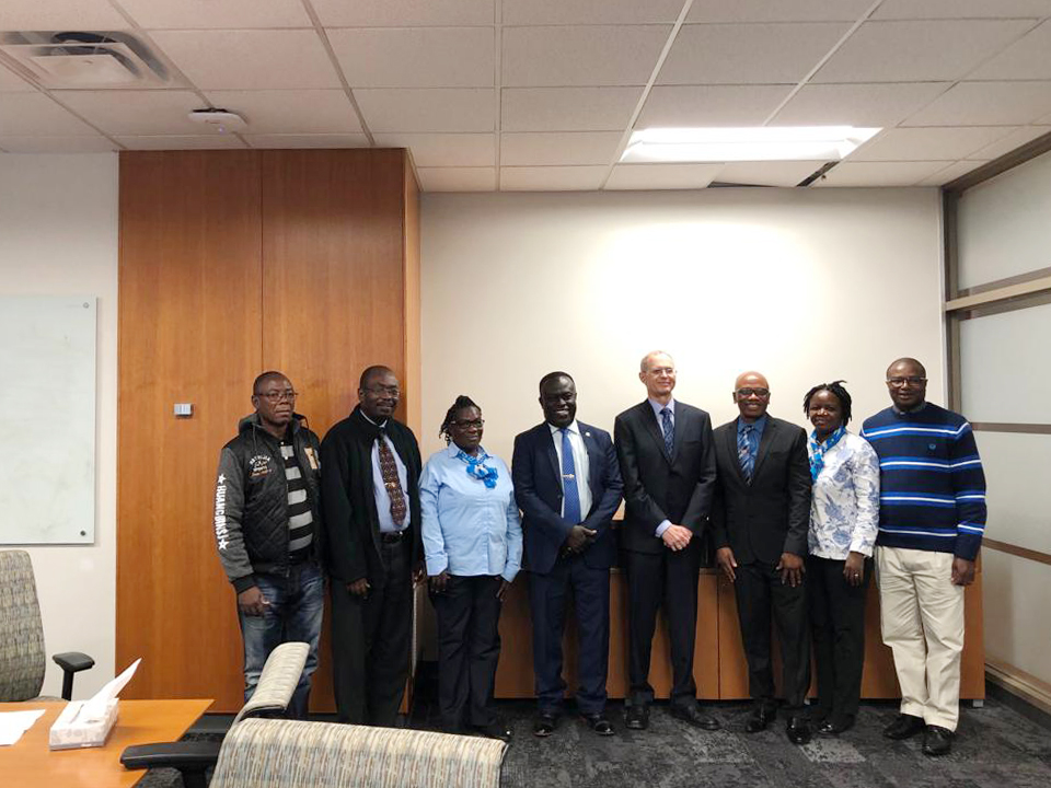 The UCC delegation with the Dean of the College of Education, Prof. Robert Floden