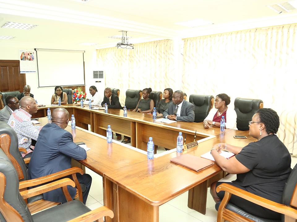 Prof. Dora Edu-Buandoh with the NMC delegation