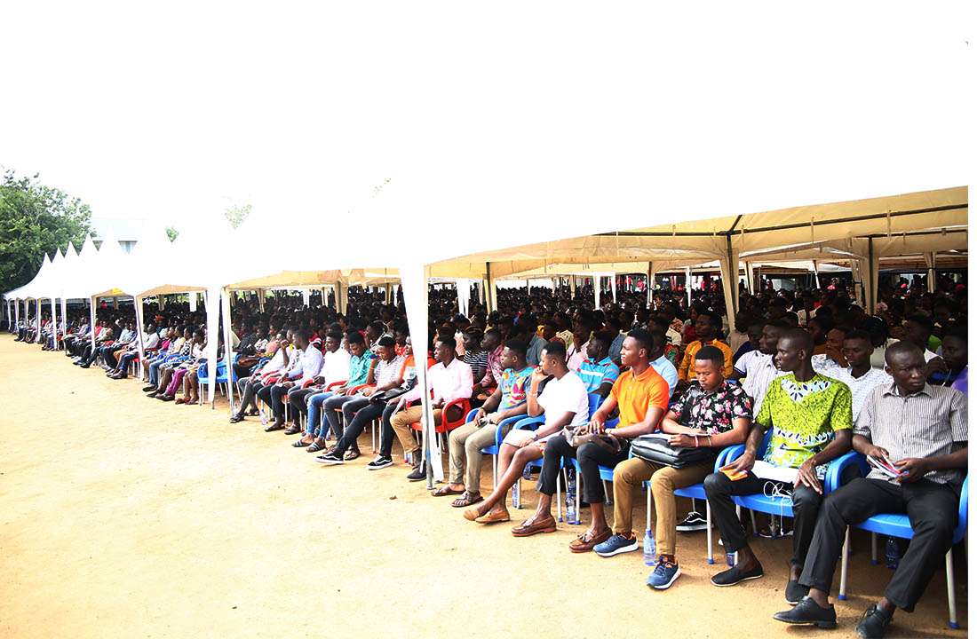 Some of the fresh students at the orientation programme