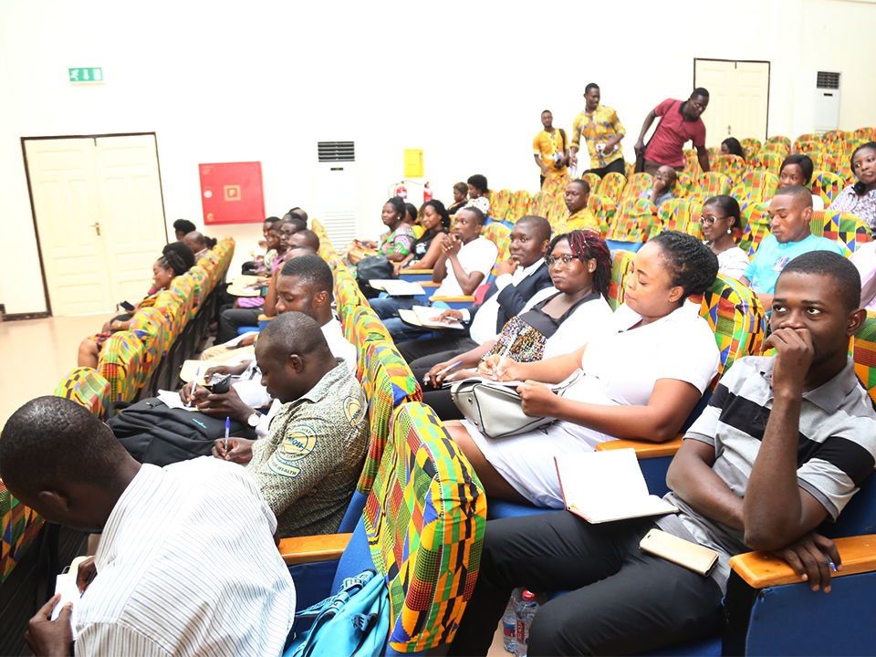 Participants of the workshop listening to the presentations
