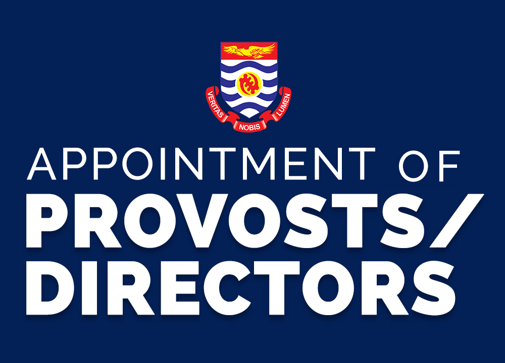 Appointment of Provosts/Directors