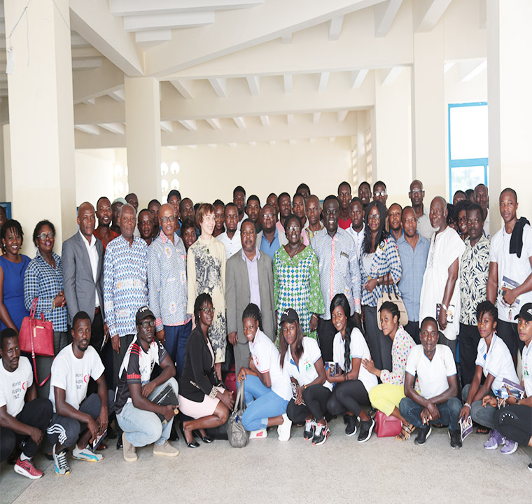 Participants and dignitaries after the launch of Ghana Society of Sports and Exercise Psychology