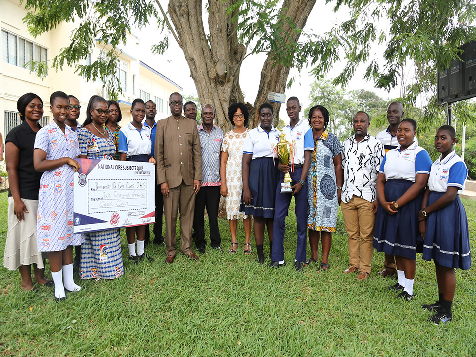 The UJHS team with the Vice-Chancellor, Prof. Joseph Ghartey Ampiah