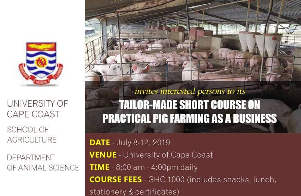Pig farming workshop