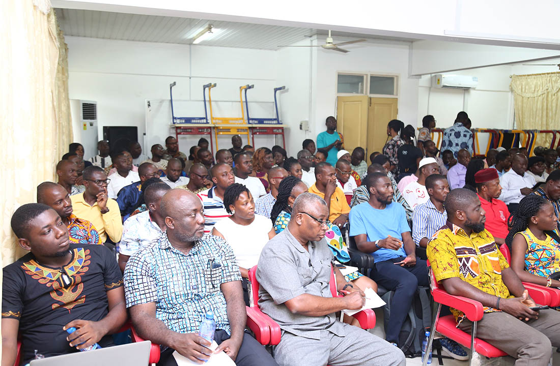 Participants listening to the lecture