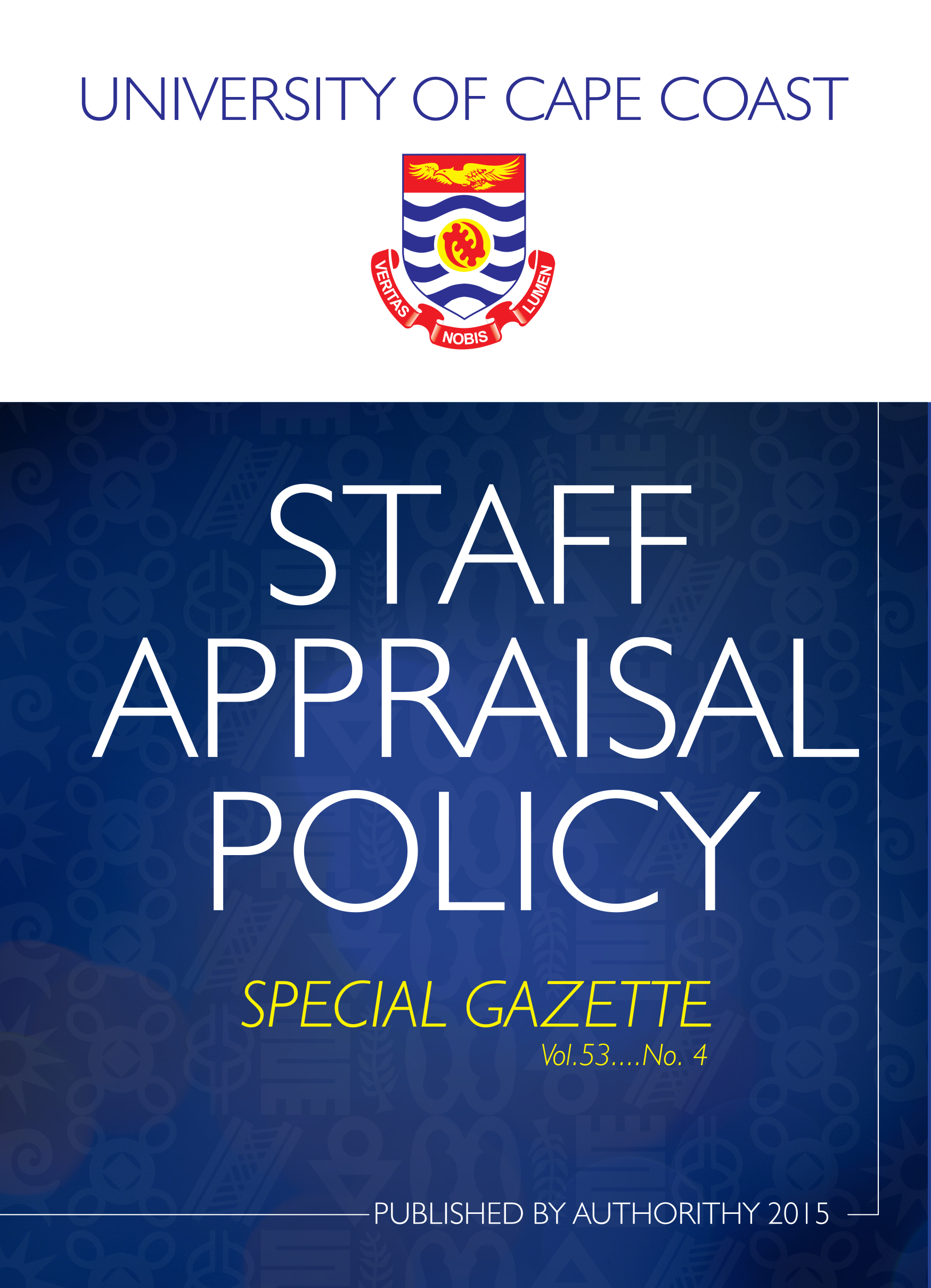 Staff Appraisal Policy Cover