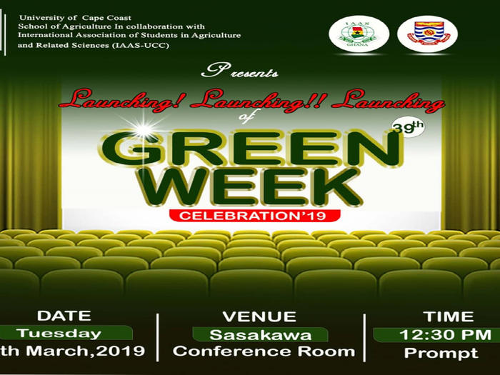 International Association of Students in Agriculture  and Related Sciences Week Celebration 2019 Launch Poster