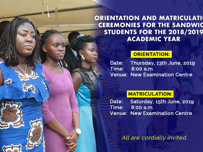 orientation and matriculation