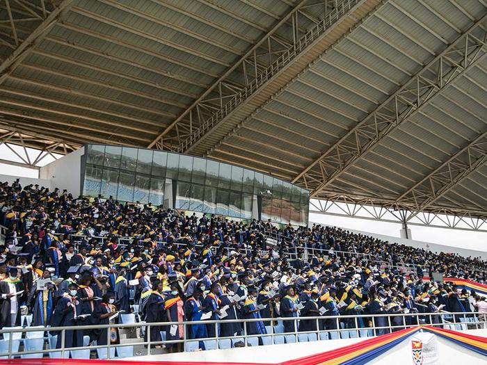 Graduates at the New Cape Coast Sports Stadium