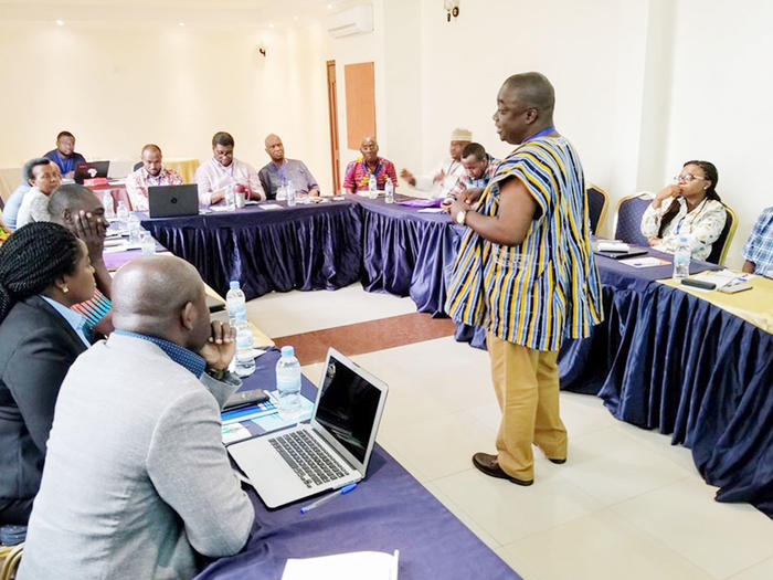 Dr. Michael Boakye-Yiadom facilitating a session during the one-week conference