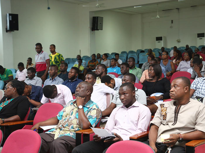 Members of the University Community and the general public at the seminar