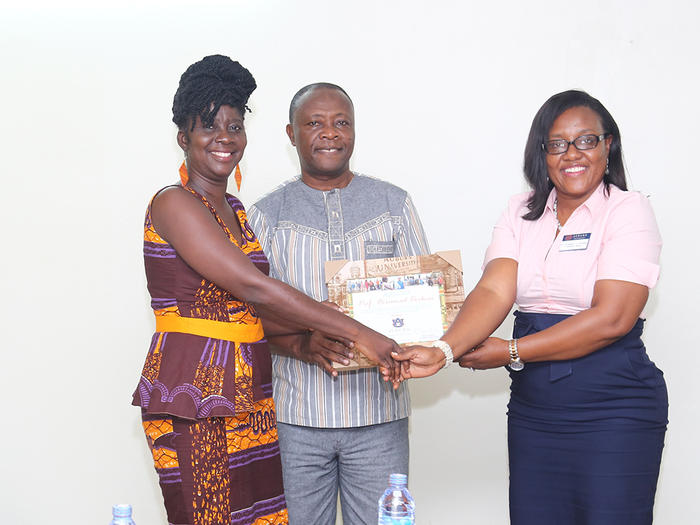 Presentation of a citation to Prof Boohene