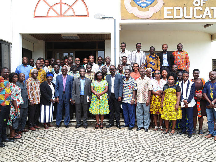 Provost of the College of Education with the lecturers