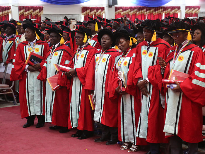 Some PhD graduates at the 17th Session of the 51st Congregation