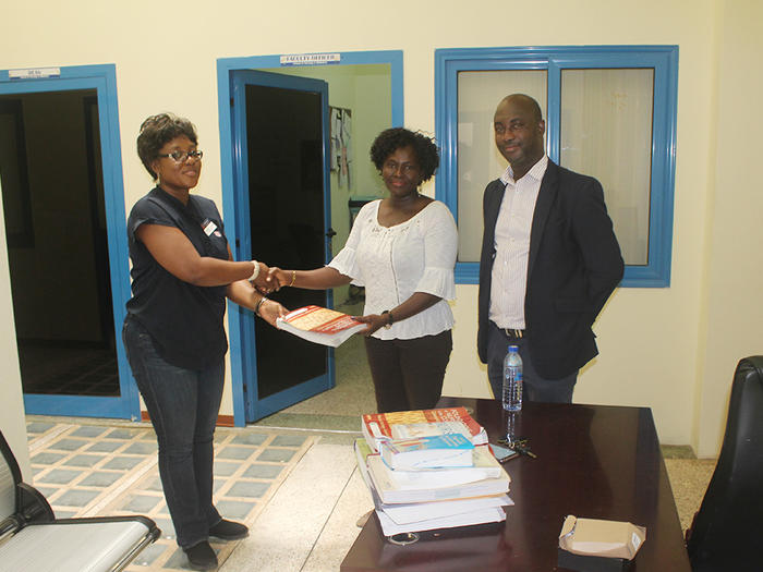 Donation of the books to School of Nursing and Midwifery