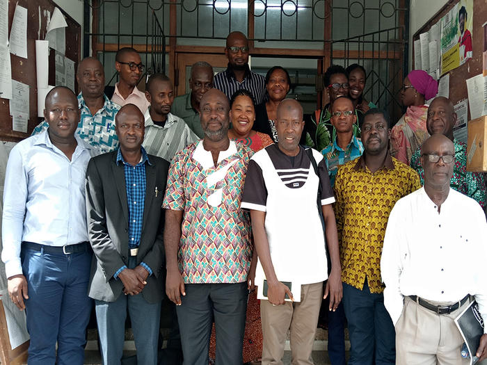 Members of faculty with the Gambia  delegation