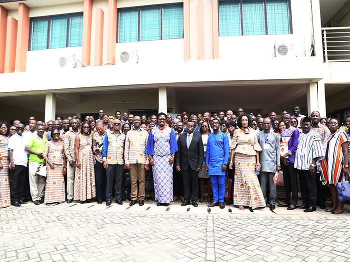 Members of GAUA with the dignitaries