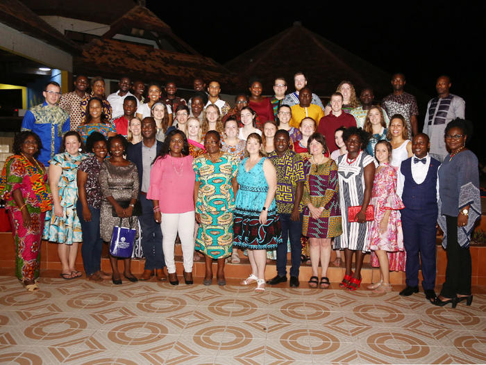 GVSU team with faculty members of the School of Nursing and Midwifery