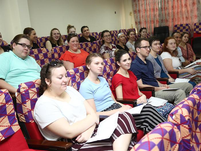 The GVSU students at the orientation programme