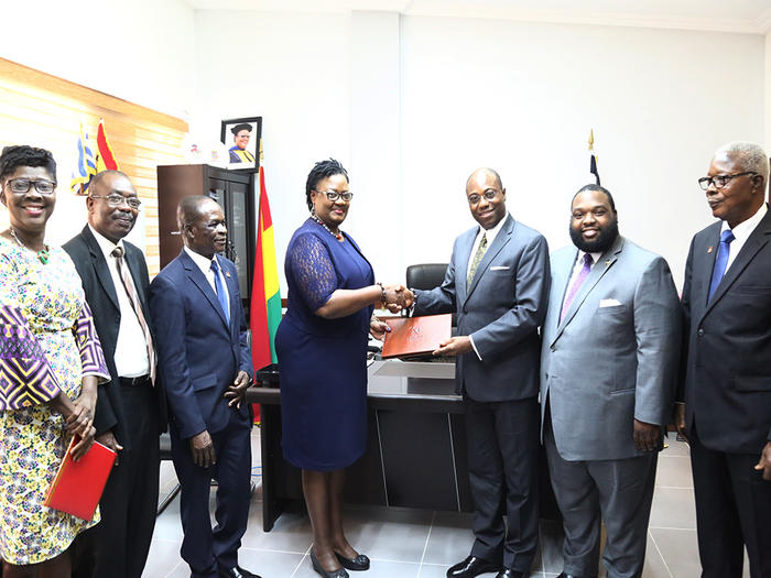 Presentation of UCC souvenir to Dr. Wubah