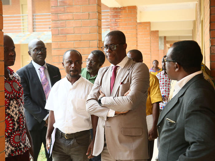 The Vice-Chancellor inspecting facilities at the NSBT