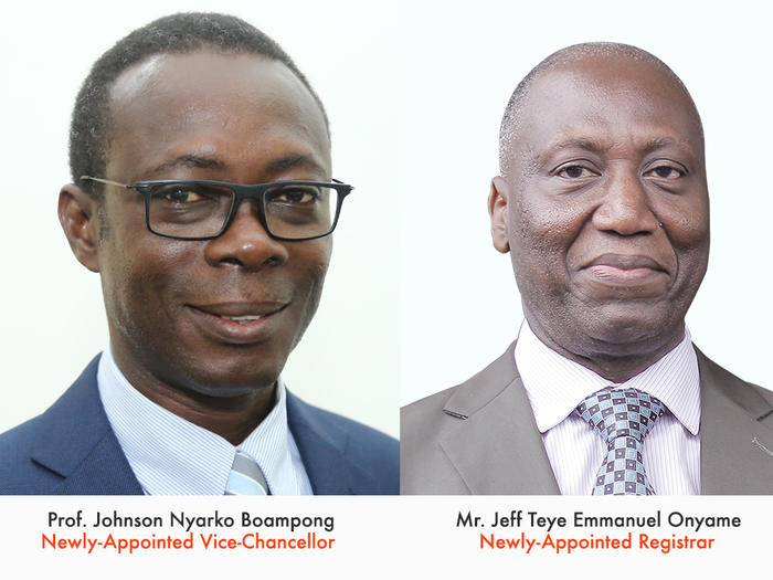 Prof. Johnson Nyarko Boampong and Mr. Jeff Teye Emmanuel Onyame