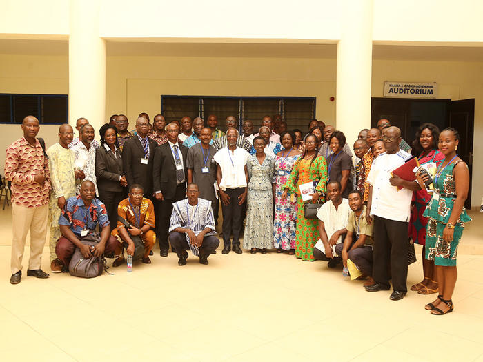 Prof. Britwum with participants of the Conference