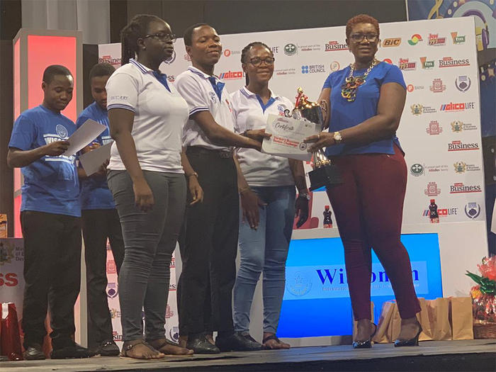 The UCC contestants receiving their prize