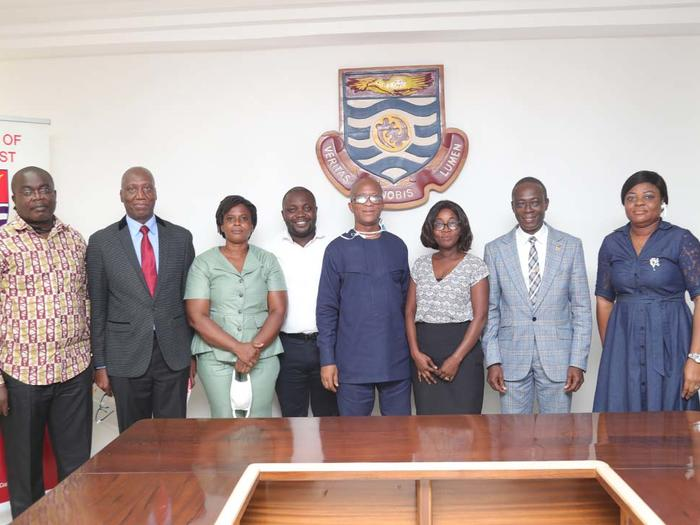 The VC and Registrar with members of GAUA