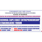 2019 Cape Coast Entrepreneurship Stakeholders' Forum Banner